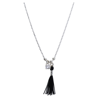 COLLIER SIMPLE OXYDE POMPON