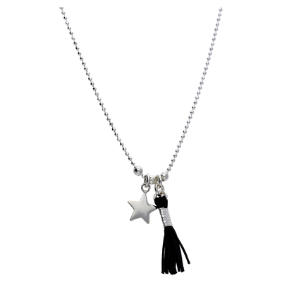 COLLIER SIMPLE STAR POMPON