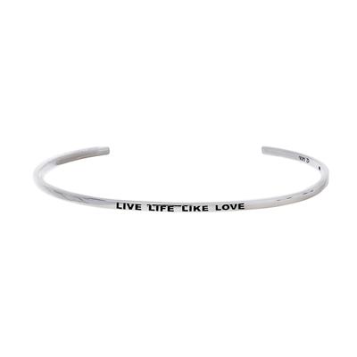 "FIL D'ARGENT ""LIVE LIFE LIKE LOVE"""