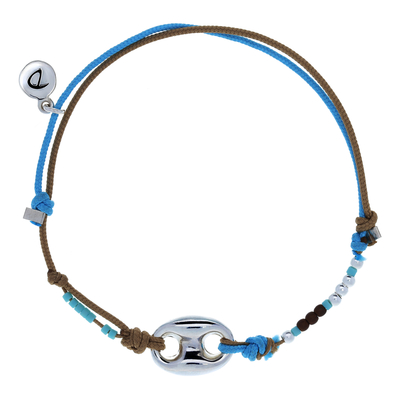 "BRACELET HOMME ""WHAT ELSE"" BEIGE BLEU"