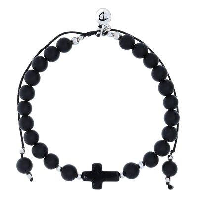 LE BRACELET BAD BOY... ALL BLACK 6mm