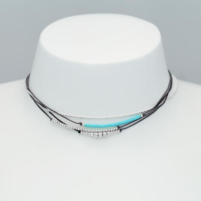 COLLIER DARLING GRIS LAGON