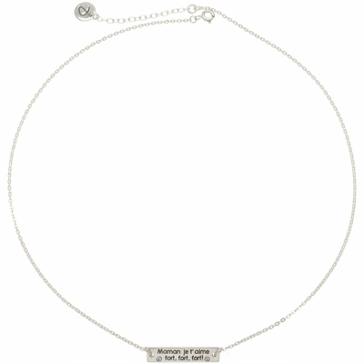 COLLIER MAMAN JE T'AIME FORT FORT FORT