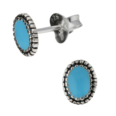 BOUCLES OVALES TURQUOISE