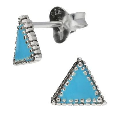 BOUCLES TRIANGLE TURQUOISE