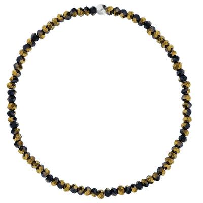 BRACELET ELASTIQUE BLACK-GOLD