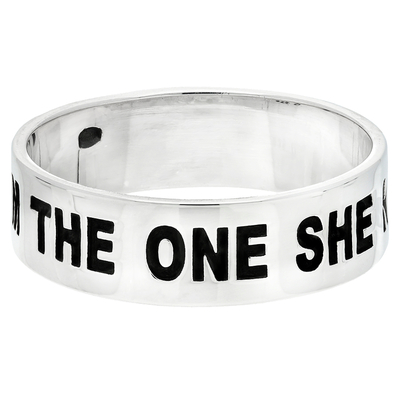 BAGUE MESSAGE HOMME I AM THE ONE SHE NEEDS