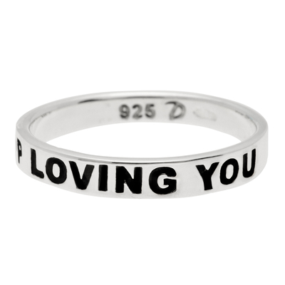 BAGUE MESSAGE I JUST CAN'T STOP LOVING YOU
