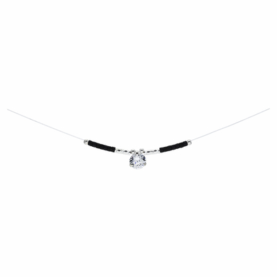 COLLIER BLACK ZIRCONIUM