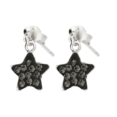 BOUCLES PENDANTES GREY STARLIGHT 9MM