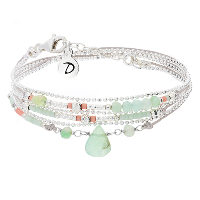 BRACELET DROP GREY & GREEN