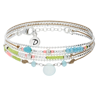 BRACELET DROP BEIGE & COLORS
