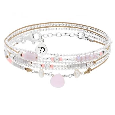 BRACELET DROP BEIGE ROSE