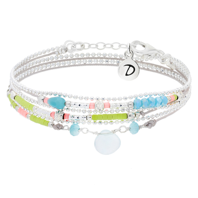 BRACELET DROP GRIS CLAIR & COLORS