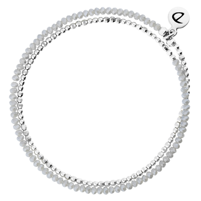 BRACELET HEAVEN GRIS CLAIR DOUBLE TOURS