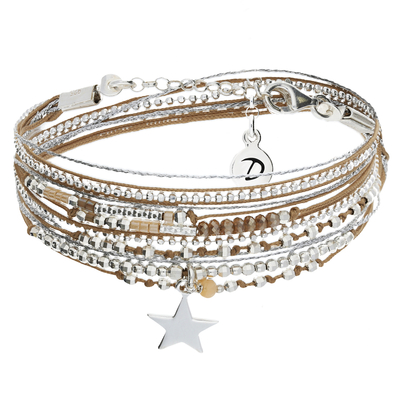 BRACELET QUEEN STAR BEIGE