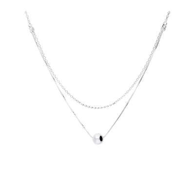 COLLIER DOUBLE RANGS ONE PEARL