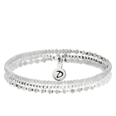 BRACELET HEAVEN GRIS CLAIR TRIPLE TOURS