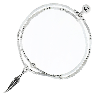 BRACELET SPRING- GREY FEATHER