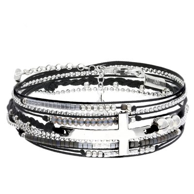 BRACELET FAITH NOIR