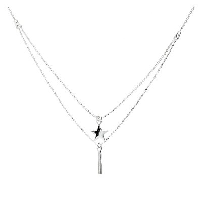 COLLIER DOUBLE RANGS QUEEN STAR