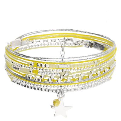BRACELET QUEEN STAR JAUNE