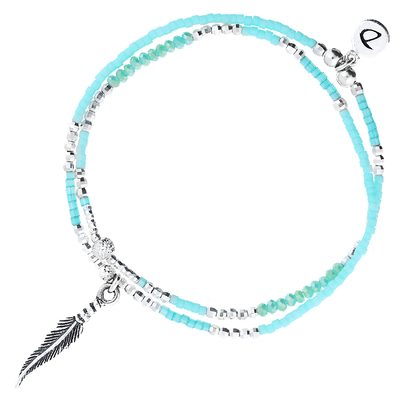 BRACELET SPRING- TURQUOISE FEATHER