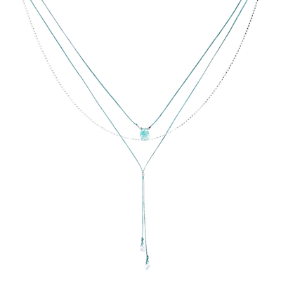 COLLIER COSMO VERT TURQUOISE