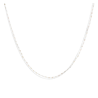 COLLIER PIERRE SEMI-PRECIEUSE ROSE
