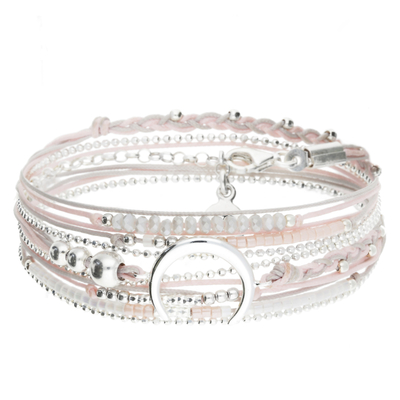BRACELET MOONLIGHT GRIS ROSE
