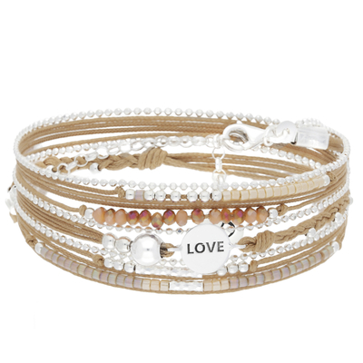 BRACELET MULTI TOURS LOVE BEIGE