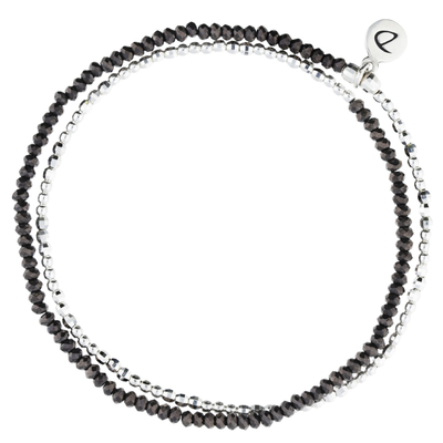 NEW BRACELET HEAVEN HEMATITE  DOUBLE TOURS