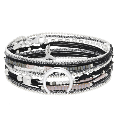 BRACELET MOONLIGHT NOIR ROSE