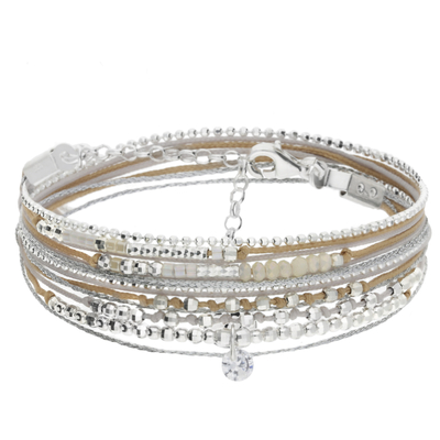BRACELET LIKE A DIAMOND GRIS BEIGE