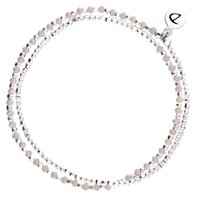 BRACELET HEAVEN ROSE SILVER DOUBLE TOURS