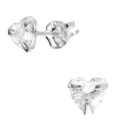 BOUCLES COEUR OXYDE 5MM