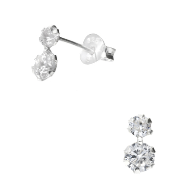 BOUCLES DOUBLE ROND OXYDE