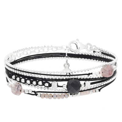 BRACELET VIRTUOSE NOIR ROSE