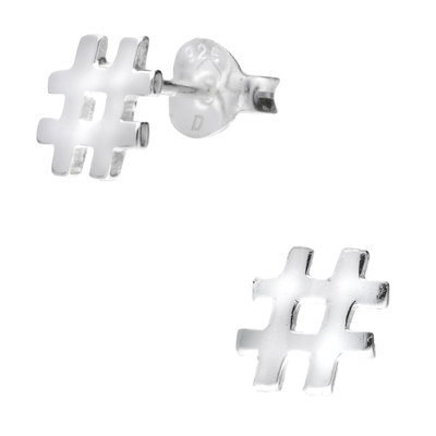 BOUCLES HASHTAG 6.5MM