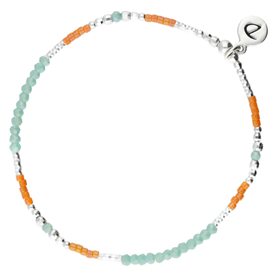 BRACELET TRENDY TURQUOISE-ORANGE