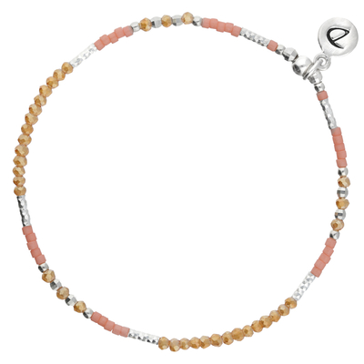 BRACELET ELASTIQUE FLUFFY ORANGE- CORAIL