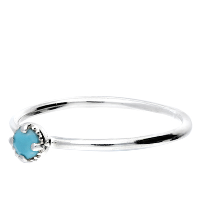 BAGUE PIERRE TURQUOISE 3MM