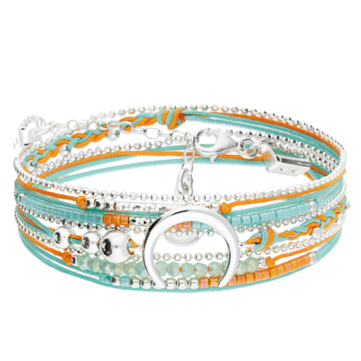 BRACELET MOONLIGHT TURQUOISE-ORANGE