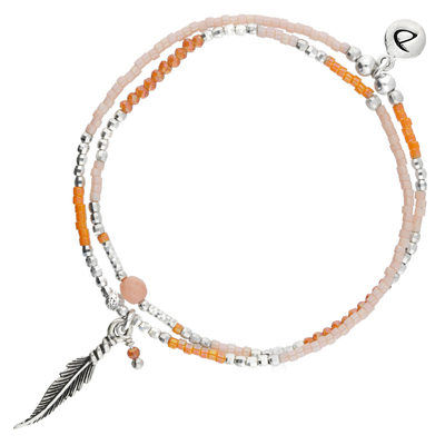BRACELET SPRING ORANGE FEATHER