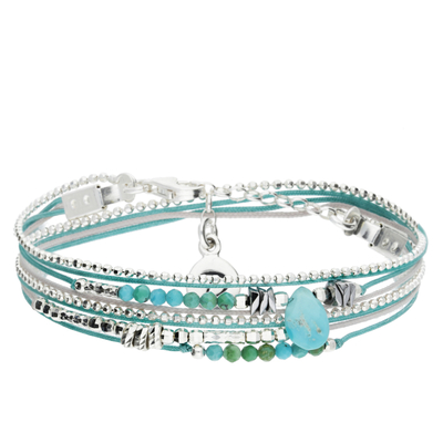 BRACELET FOR HER GRIS TURQUOISE