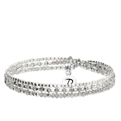 BRACELET HEAVEN GRIS TRIPLE TOURS