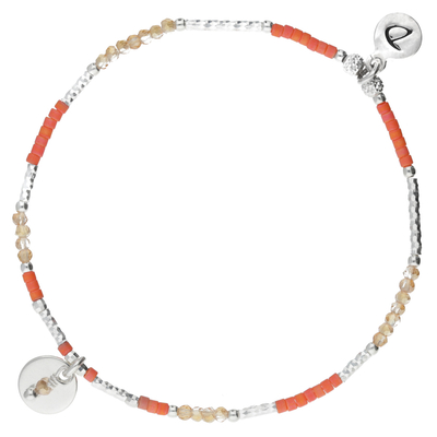 BRACELET ÉLASTIQUE ORANGE PASTILLE 8MM