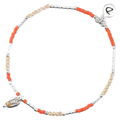 BRACELET ÉLASTIQUE CAURI ORANGE