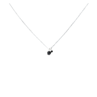 COLLIER DOUBLE SPINELLES NOIRES