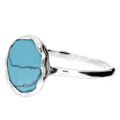 BAGUE TURQUOISE OVALE 9MM